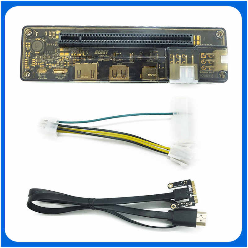 Pcie pci-e exp gdc placa de vídeo portátil externo doca/portátil docking station (mini versão interface pci-e) dropship