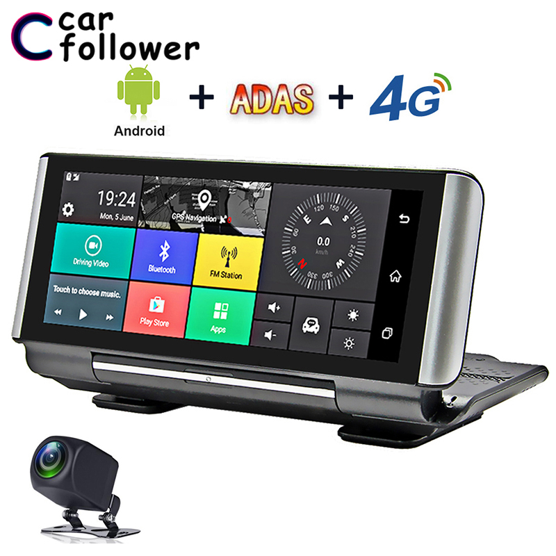 7 4G Car DVR Camera GPS Bluetooth WIFI FHD 1080P Android Dash Cam Navigation ADAS Car Video Recorder Dual Lens Dashboard camera image