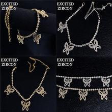 Изысканный браслет с бабочкой богемная женская мода роскошные