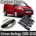 Черное углеродное волокно для Citroen Berlingo 2008 2009 2010 2011 2012 2013 2014 2016 2017 2018 крышка дверной ручки автомобильные аксессуары