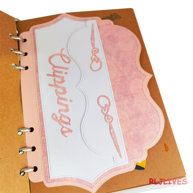 Planner with Big Envelope Metal Cutting Dies DIY Scrapbooking Card Stencil Paper Craft Handmade Album Handbook Decoration