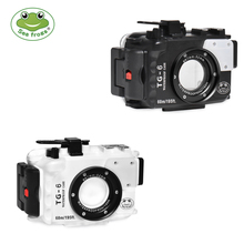 SeaFrogs Underwater Diving Camera Housing Waterproof Case For Olympus TG 6  TG6 Case  52mm 67mm  M10/M14/M16 Sea&Sea Nauticam