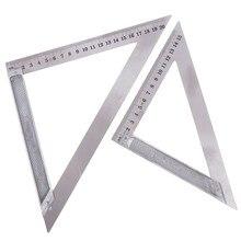90 stopni 150/200mm trójkąt linijka poziome ze stali nierdzewnej do obróbki drewna prędkość kwadratowy kątomierz Trammel narzędzia pomiarowe