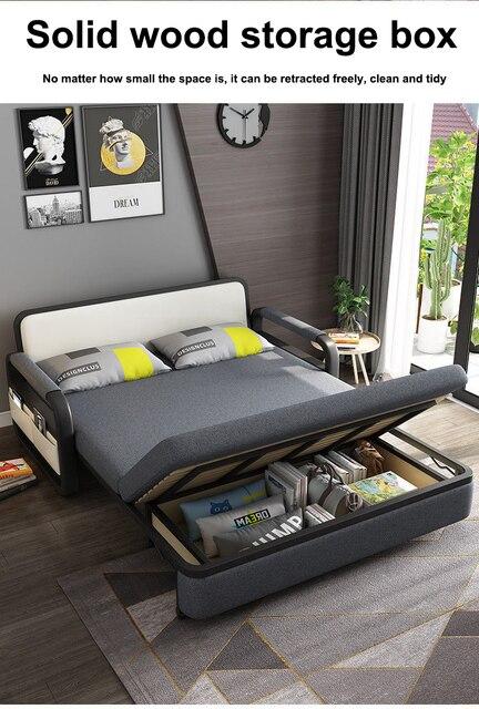 Bit Cube Gray Folding Bed Sofa 3