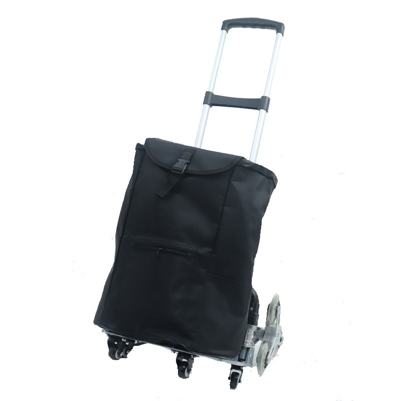 Folding Hand Truck Cart Transport Trolley with Adjustable Handle and Elastic Ropes for Home, Outdoor