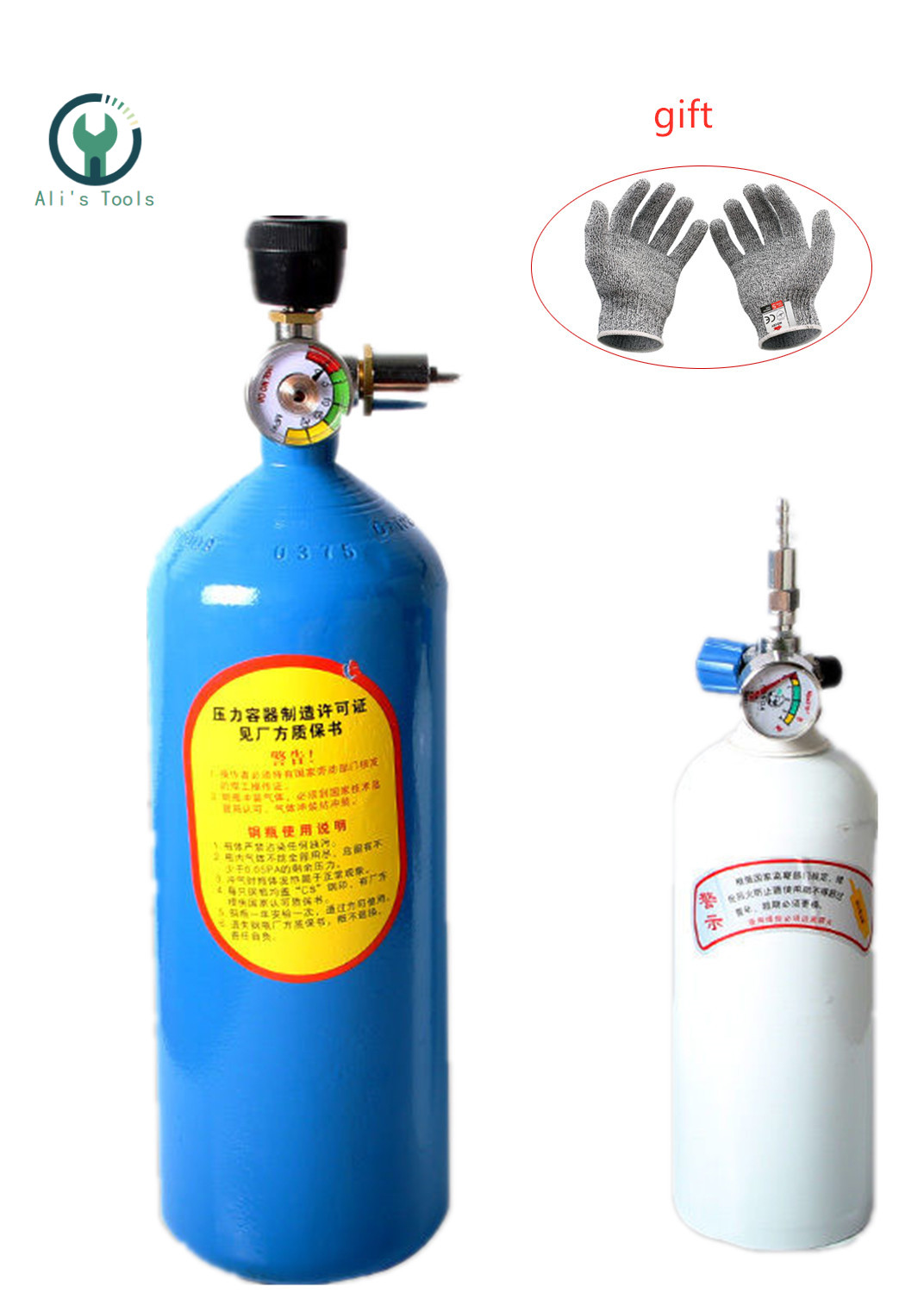 2L Portable Torch Set Refrigeration Repair Tool Air Conditioning Copper Tube Welding Torch Oxygen Torch Gas Welding Equipment
