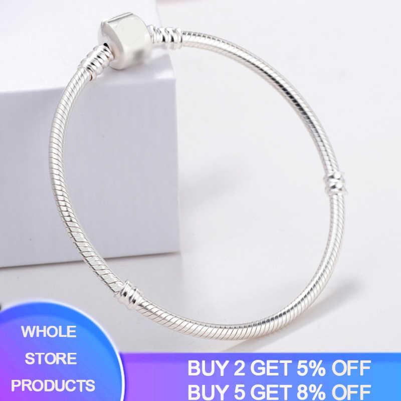 """Link """" pokaż dane kontaktowe """"certyfikat! 100% prawdziwe 925 Sterling Silver Charm bransoletka biżuteria ślubna długie 16-23cm wąż kości bransoletki dla kobiet CB005"""