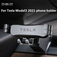 Auto Handy Halter Smartphone Halter Halterung GPS Stand Navigation Halterung Air Outlet Clip Für Tesla Modell 3 2021 Zubehör