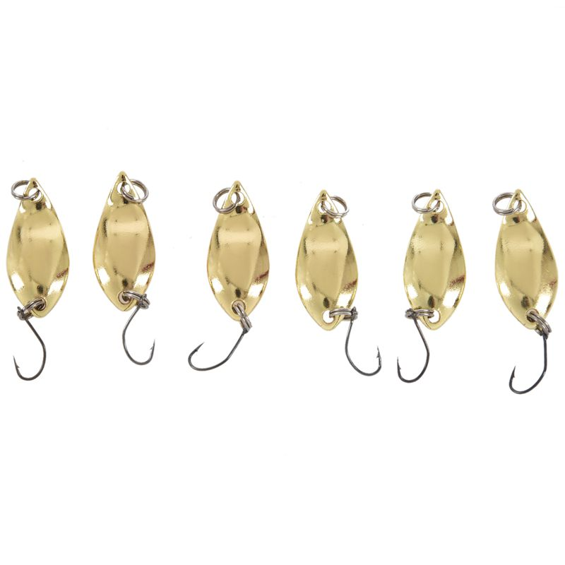 Spoon 006 6 pcs 2.5g 2.8cm Zinc alloy hard fishing bait spoon Seed bait with individual hooks