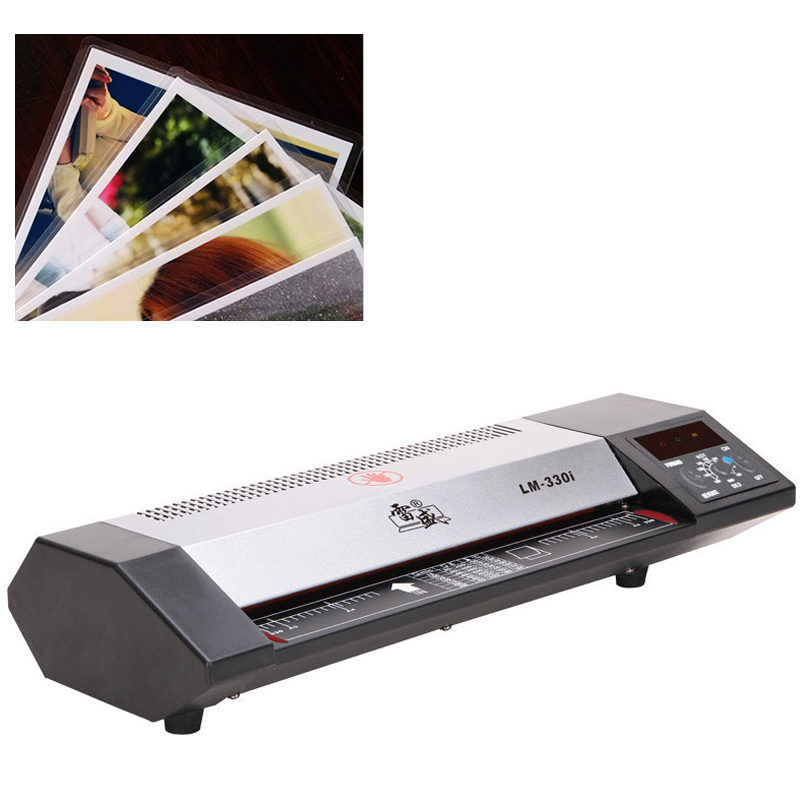 Digital A3 / A4 Photo Laminator Cold Mounting / Hot mounting Over Glue Office Home Use Document Laminating Machine Metal Shield