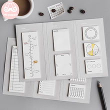 Mr Paper 180pcs/lot Minimalist Style Sticker Set for Diary Creative Folded Memo Pads Notepad Self-Stick Note Writing Memo Pads sodial r safe memo holder spike stick for bill receipt note paper order office desk