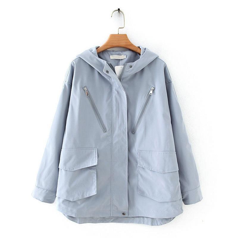 2020 New Spring Women Jacket Autumn Casual Coat Woman Casual Jacket Women Jacket Hooded Zipper Jackets Plus Size 4XL Outerwear