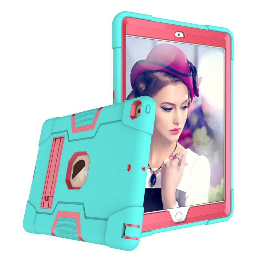 Aqua - Rose Red Beige For iPad 10 2 2019 7th Gen A2197 A2198 A2200 A2232 Case Shockproof Kids Safe PC