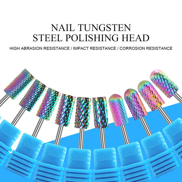BORN PRETTY Electric Nail Drill Bits Milling Cutter Tungsten Steel Grinding Polishing Nail Files Pedicure  Nail Tool 5