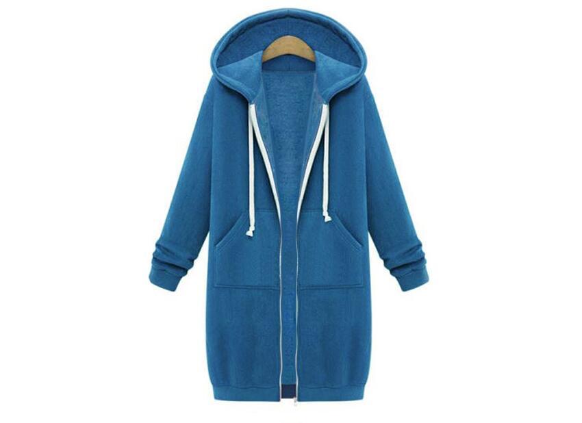 Women Winter Warm Fleece Hooded Parka Coat Long Jacket Outerwear Zipper Female Hoodies S-5XL Large Size Sweatshirt