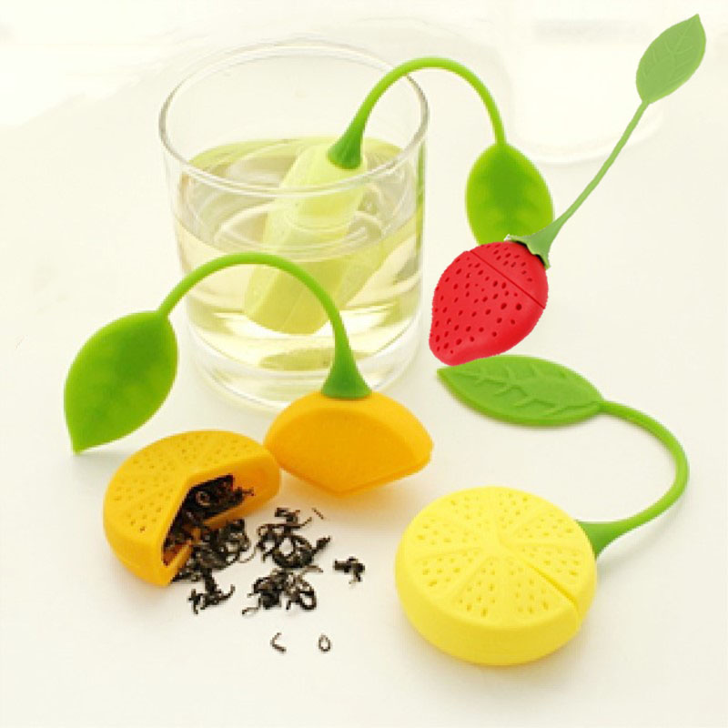 1 Pcs Silicone Strawberry Tea Infuser Teabag Kettle Loose Tea Leaf Strainer Ball Holder Herbal Spice Filter Tea Teapot Tool 7D