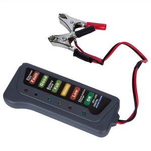 Battery Alternator Tester Battery  Monitor For Car Motorcycle Trucks LED Indication Portable 12V Digital Battery Tester