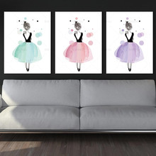 Wall art Picture Cartoon Girl wall painting canvas decor poster