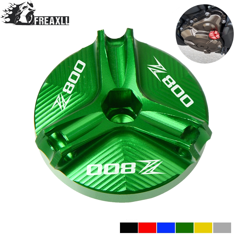 For <font><b>Kawasaki</b></font> Z800 <font><b>Z</b></font> <font><b>800</b></font> 2013-2016 2014 2015 New Motorcycle Engine Oil Drain Plug Sump Nut Cup Oil Fill Cap Cover With Logo Z800 image