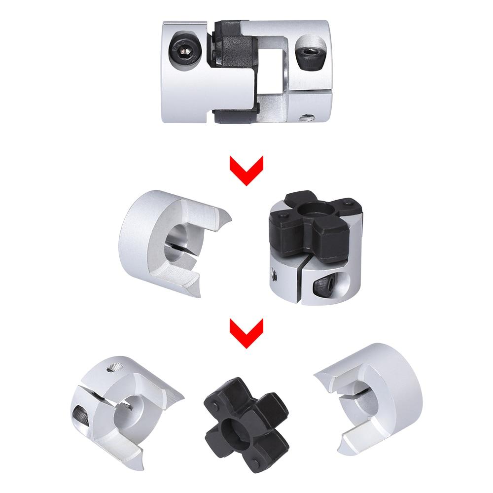 Fevas D30 L35 Flexible Coupler 4pcs 77 Aluminum Alloy Elastic Coupling Screw Shaft Encoder