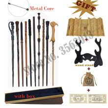 34 Kinds Metal Core Harried Potters Magic Wands With HP Coin