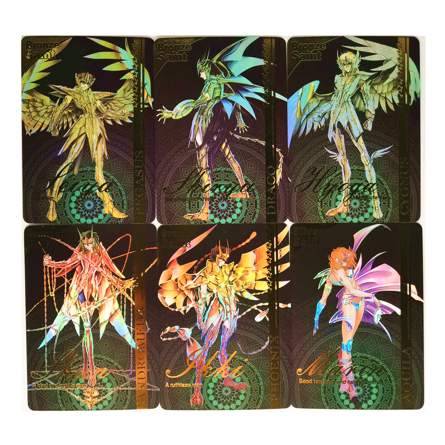9pcs/set Saint Seiya Fourth Bomb Toys Hobbies Hobby Collectibles Game Collection Anime Cards