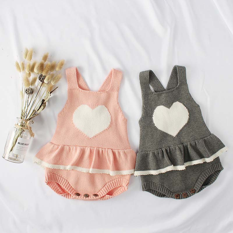 0-24M Newborn Baby Boy Girl Sleeveless Knitted Bodysuit Toddler Jumpsuit Kids Overalls Warm Outwear Autumn Clothes image