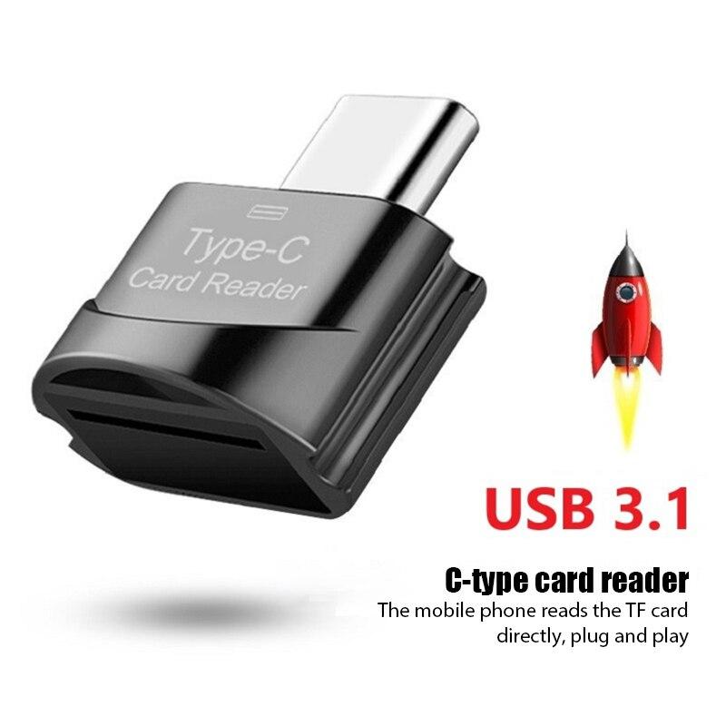 Novo 3.1 usb tipo c para micro-sd tf adaptador otg cardreader mini leitor de cartão de memória inteligente leitor de cartão para portátil samsung huawei