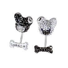 High Quality 1:1 Swa Cute Dog Black and White with Ladys Earrings