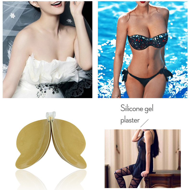 Backless Bra Sticky Self Adhesive Invisible For Women Love Heart Shape Strapless