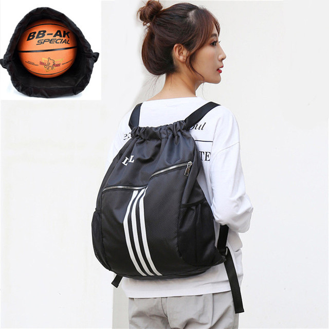 Outdoor Sports Gym Bags Basketball Backpack For Sports Bags Women Fitness Yoga Bag Drawstring Gym Bag 2