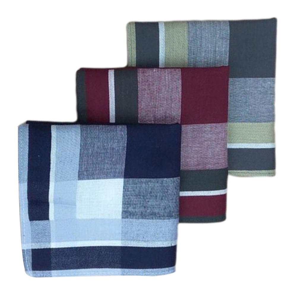 12pcs Plaid Handkerchiefs 40 X 40 Cm Classic Soft Square Formal Kerchief 16'' Check Striped Pattern Comfort Vintage Square Handy