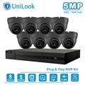 UniLook 8CH 4K NVR 5MP Wit/Grijs POE IP Camera Kit ONVIF Home/Outdoor Beveiliging Systemen Kits CCTV Video Surveillance NVR Kits