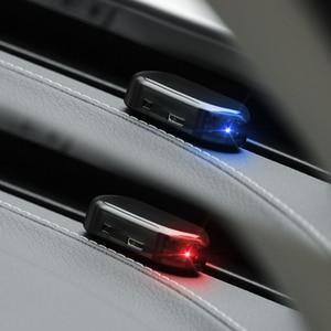 Image 5 - שמש USB כוח רכב מעורר אור נגד גניבת אזהרה עבור מאזדה honda crv סובארו אימפרזה a4 b7 יונדאי ix35 סקודה מעולה bmw e65
