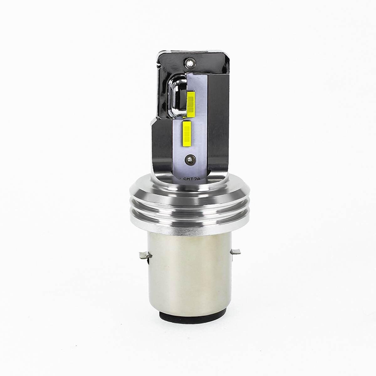 1x 18W 1600LM LED Headlights Bulb H6 BA20D / H4 HS1 Hi/Low Beam 6000-6500K White Headlamp Super Bright MT2A Car LED Headlight
