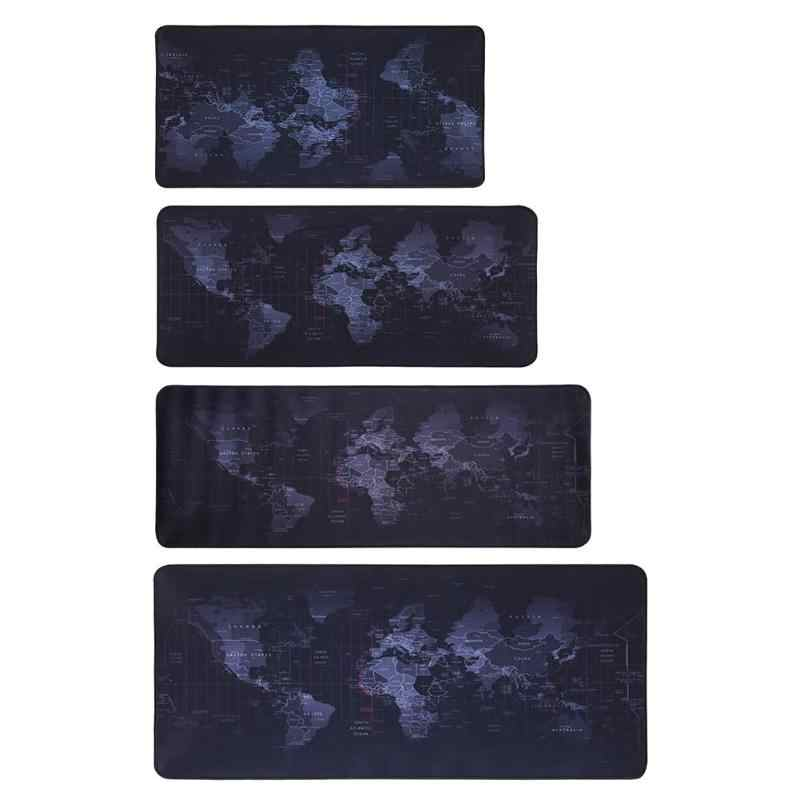 Carte du monde en caoutchouc naturel grand tapis de souris de jeu clavier d'ordinateur tapis de bureau périphériques d'ordinateur