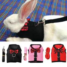 Colete de coelho animal respirável, coleira peitoral para caminhadas com laço macio, malha no peito, malha com laço, totalmente elástico, cinto macio