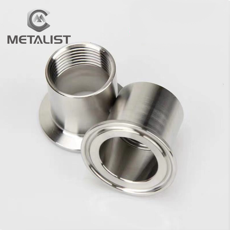 "METALIST 2"" DN40 SS304 Stainless Steel Sanitary Female Threaded Ferrule Pipe Fittings Tri Clamp Type"