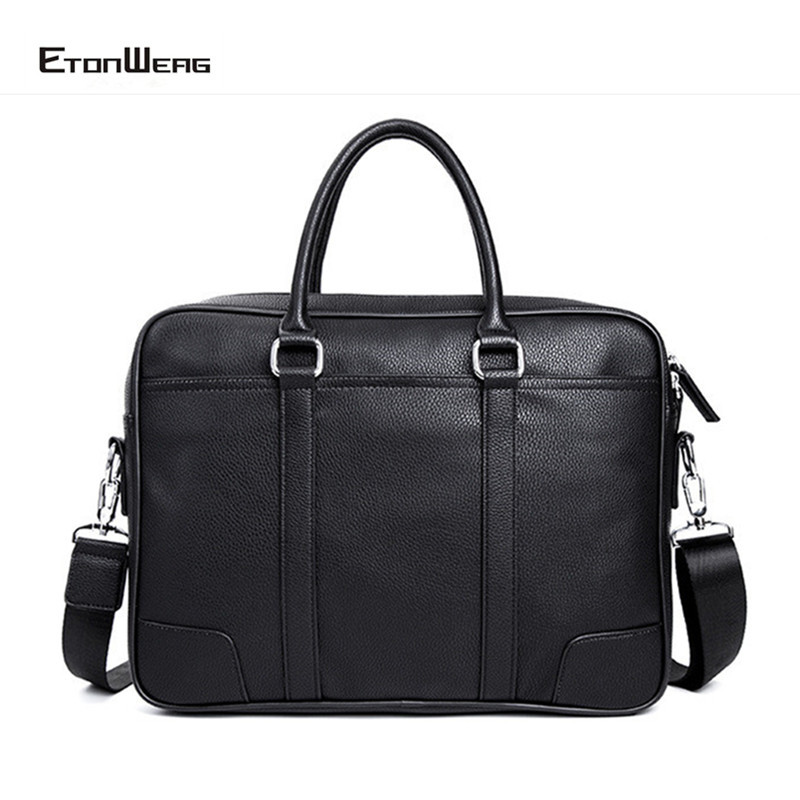 Business Office Men Briefcase Waterproof Leather Handbag Large Laptop Shoulder Bag Women Casual Crossbody Bags Male Travel Tote