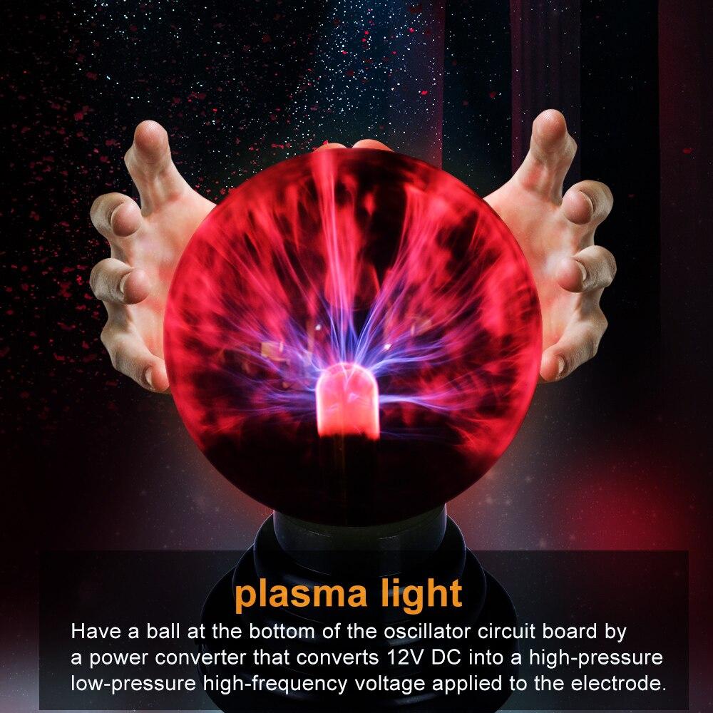 Novelty Lighting Glass Magic Plasma Glass Ball Light Table Lights Sphere Night Light Kids Gift For New Year Xmas Magic Lamp