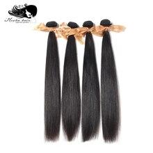 Натуральные волосы для наращивания, 100% необработанные, 10 А, прямые, 8 26 дюймов