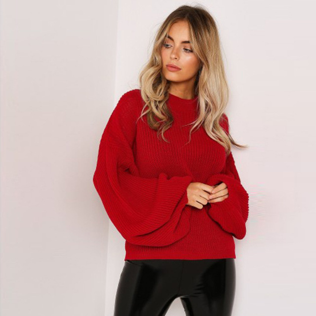 Women's Sweaters 2020 Autumn Basic Women Pullover Solid Casual Winter Warm Soft Jumper Tops O Neck Knitted Long Sleeve Sweater 1