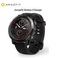 Globalna wersja Amazfit Stratos 3 Smartwatch gps 5ATM muzyka bluetooth podwójny tryb 14 dni bateria Smartwatch dla Amazfit Stratos 2