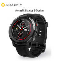Versão global amazfit stratos 3 relógio inteligente gps 5atm bluetooth música modo duplo 14 dias bateria smartwatch para amazfit stratos 2