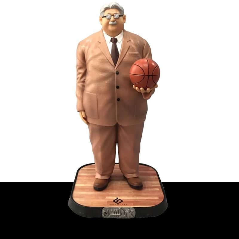 Anime SLAM DUNK Anzai Mitsuyoshi Shohoku Coach GK Statue PVC Collection de Figurines Modèle Jouet M2819