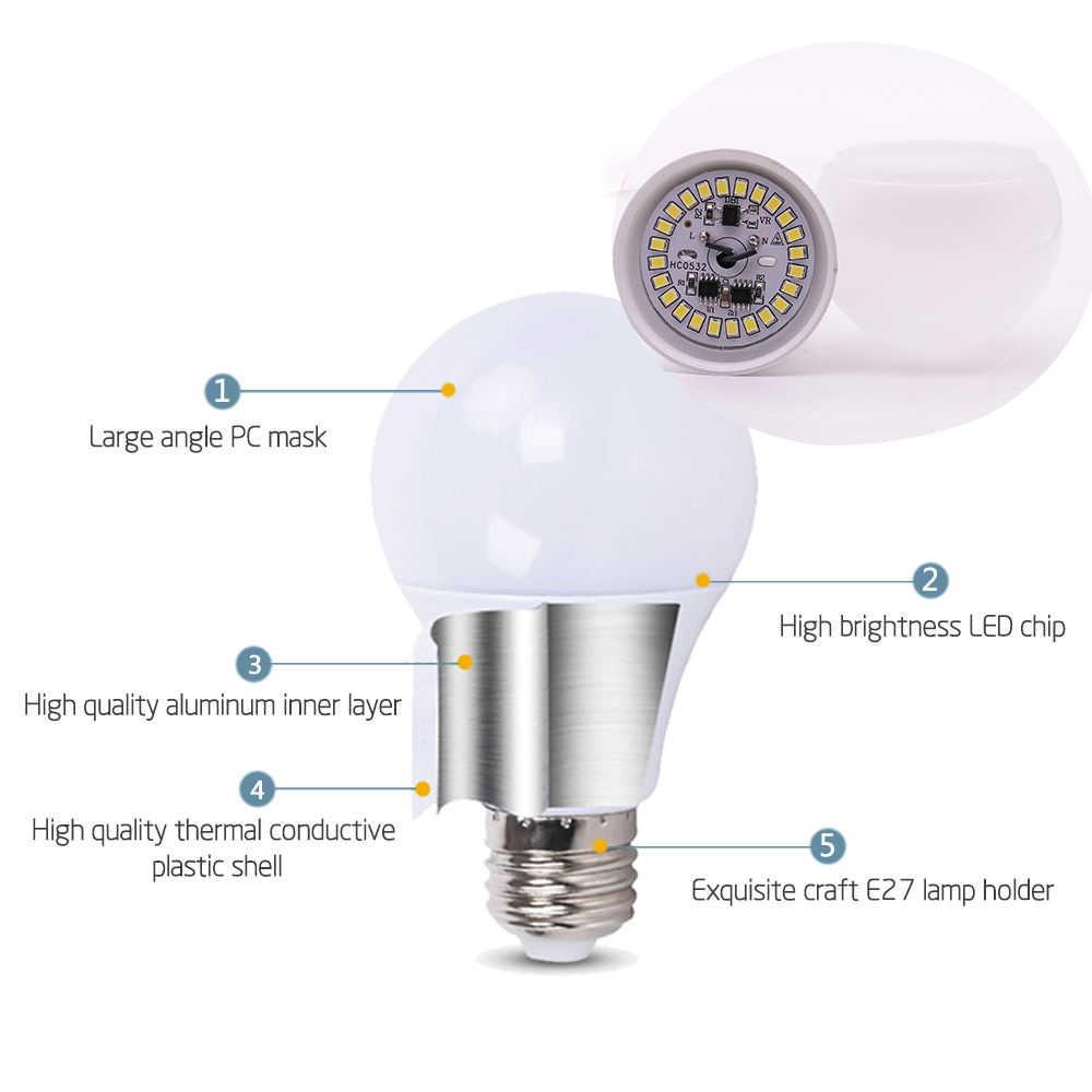 E27 LED אור הנורה 18W 15W 12W 9W 6W 3W 220V 240V lampada אמפולה LED מנורת חיסכון באנרגיה Bombillas LED נורות