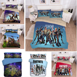 Game 3D Print Fortnight Bedding Comforter Fortress Night Bedding Set Duvet Covers Large Pillowcases Bedding Set Bedclothes Bed