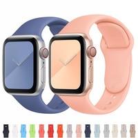 Correa de silicona para Apple Watch, correa de goma de 44mm, 40mm, 38mm y 42mm, pulsera iWatch 3 4 5 se 6