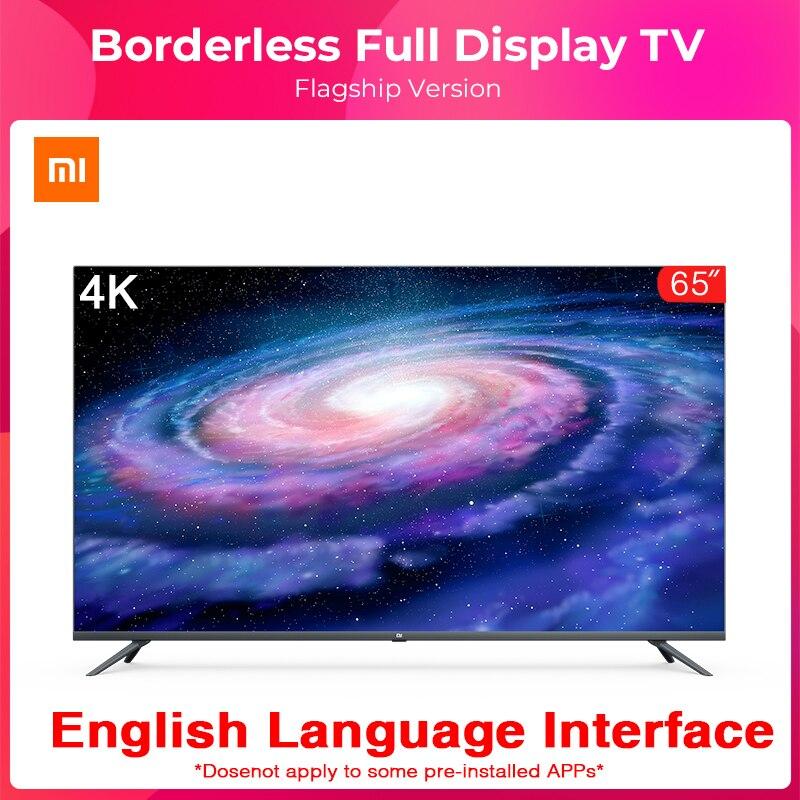 Original Xiaomi Tv 4A 65 pulgadas sin fronteras la pantalla 4K HDR TV 2GB + 16GB de memoria AI cuerpo de Control de voz de sonido Dolby Europa mantel con diseño de flores blanco hueco encaje algodón Lino tela de mesa a prueba de polvo boda banquete TV gabinete cubierta tela