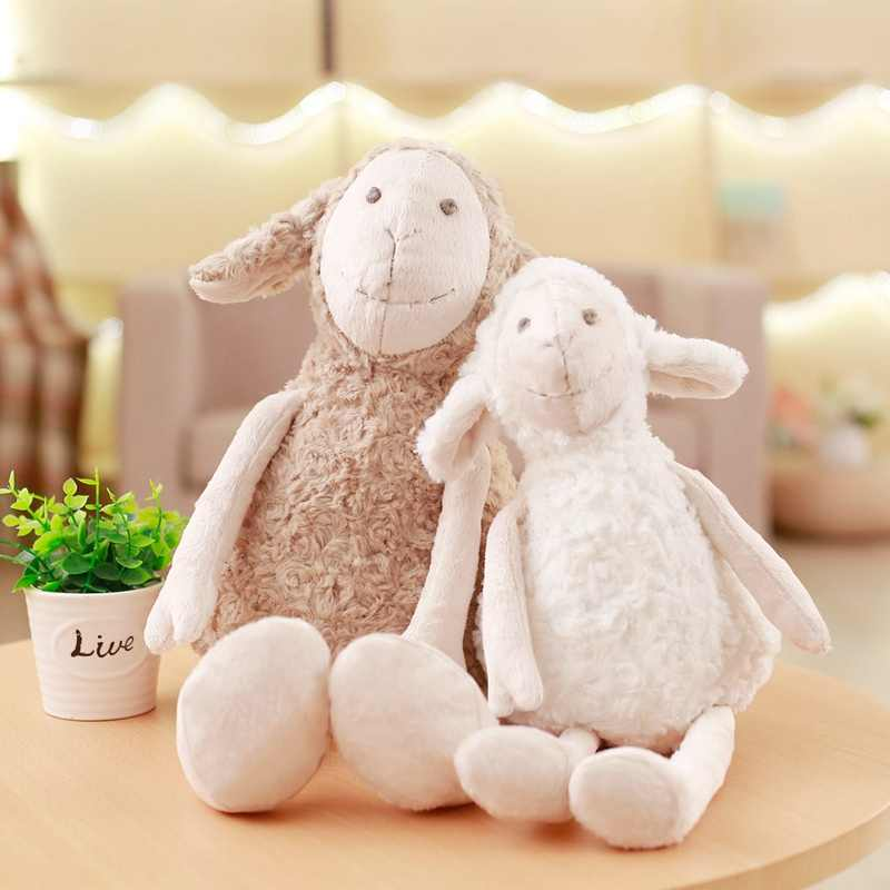 Korea Lamb składana pluszowa poduszka miękkie wypchane zwierzę symulacja owca pluszowa wymienna lalka do dekoracja do pokoju dziecięcego poduszka na krzesło
